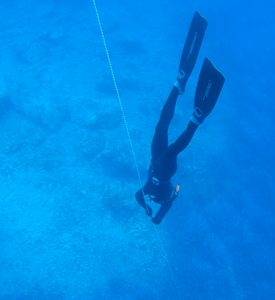 Free diving Aegean Sea Quest